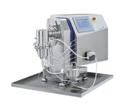 PPS a/s milling and sieving equipment from Frewitt - NanoWitt lab mill